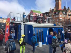 Billede fra Mobile Science Center på Rådhuspladsen i København