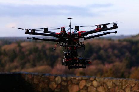 En flyvende drone