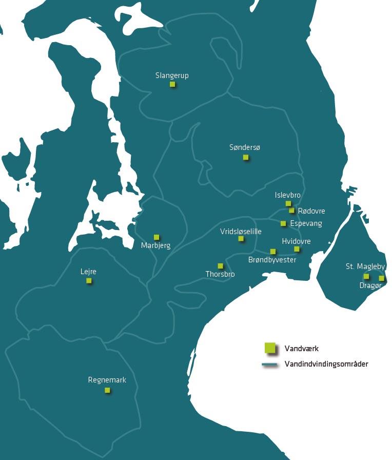 Kort over vandindvindingsområder