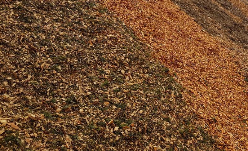 Billede af træflis der bruges på Amagerværket