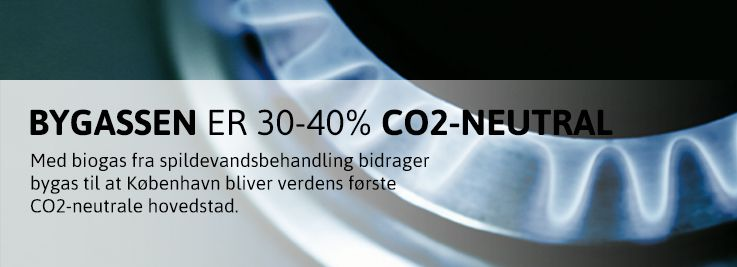 Bygassen er 30-40% CO2-neutral