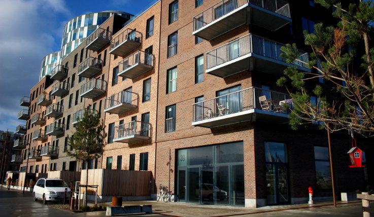 Billede af lejligheder i Nordhavn som er med projektet omkring fleksibel fjernvarme