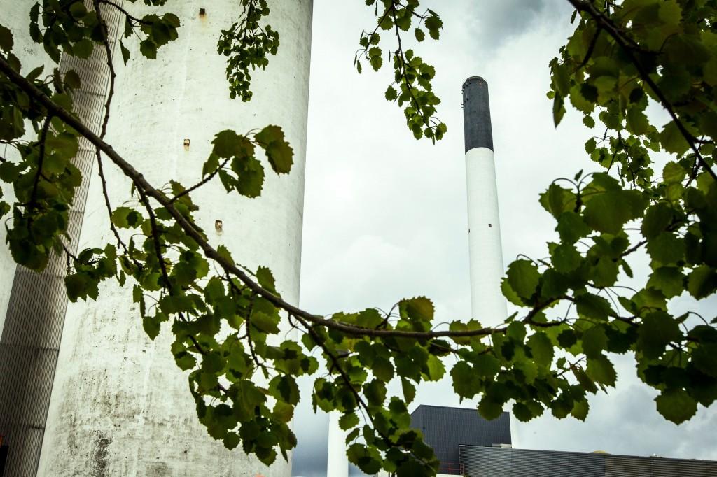 Billede af skorsten ved Amagerværket