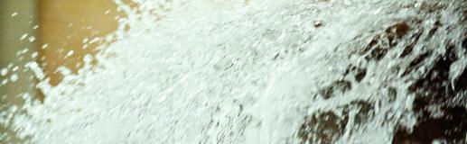Billede af store mængder regnvand