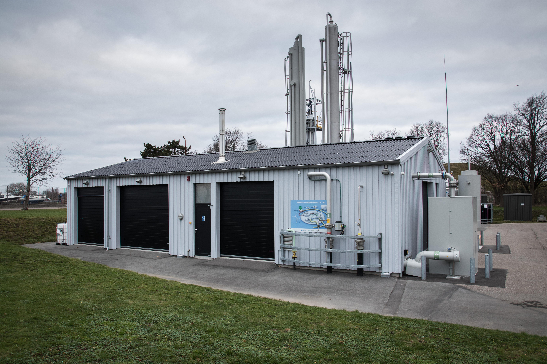 Billede af biogasopgraderingsanlæg på Avedøre Holme set udefra