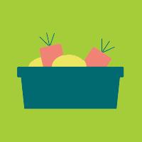 Balje med grønsager