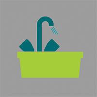 Balje med opvask