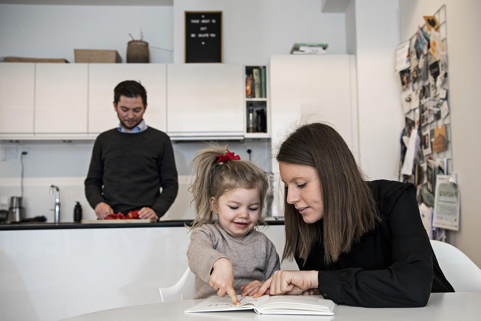 Familie i Nordhavn med fleksibel fjernvarme