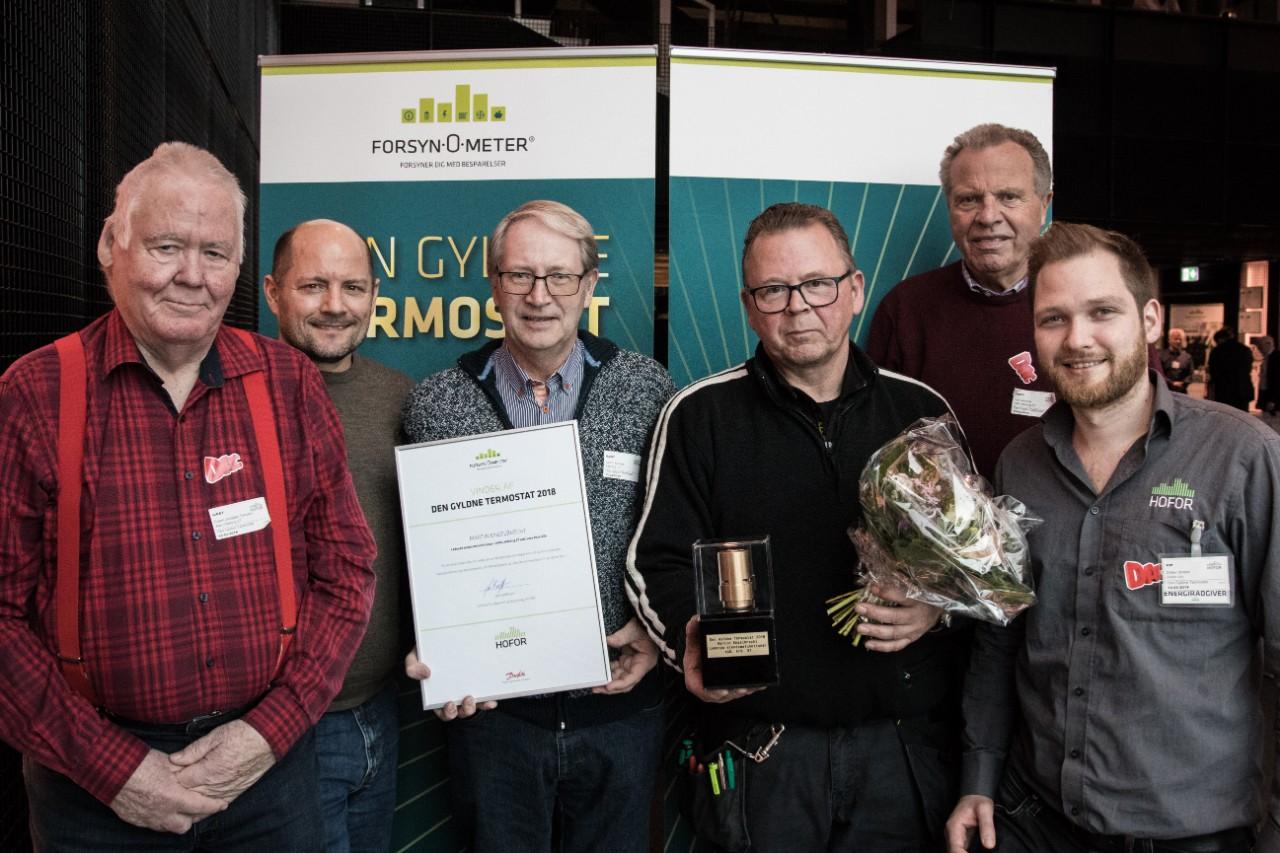 Billede af vinderne af den gyldne termostat