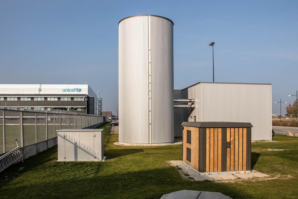 FlexHeat - Intelligent varmepumpe i Nordhavn: Varmelager set udefra