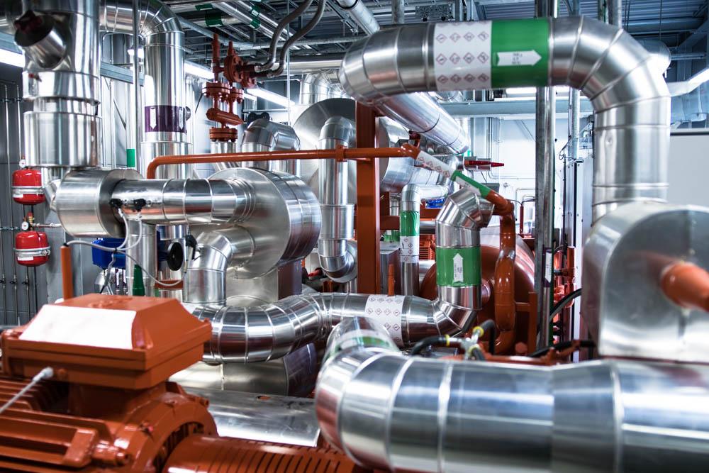 FlexHeat - Intelligent varmepumpe i Nordhavn: indefra fra anlægget