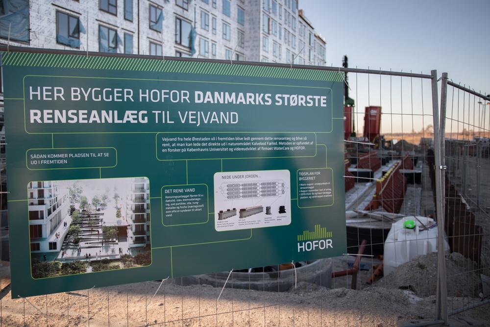 Vejvandsrenseanlæg Ørestad Syd: Byggeplads