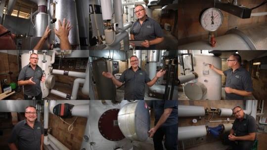 Ni billeder fra videoerne om fejl i varmekælderen