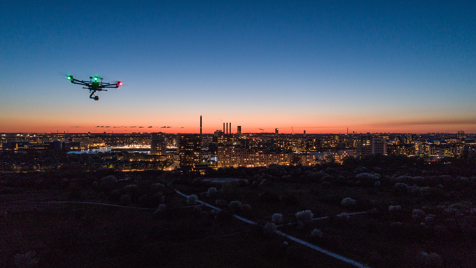 HOFOR flyver drone over byen Amager Faelled