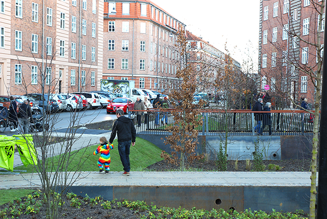 Skybrudsløsning Tåsinge Plads Østerbro Klimakvarter