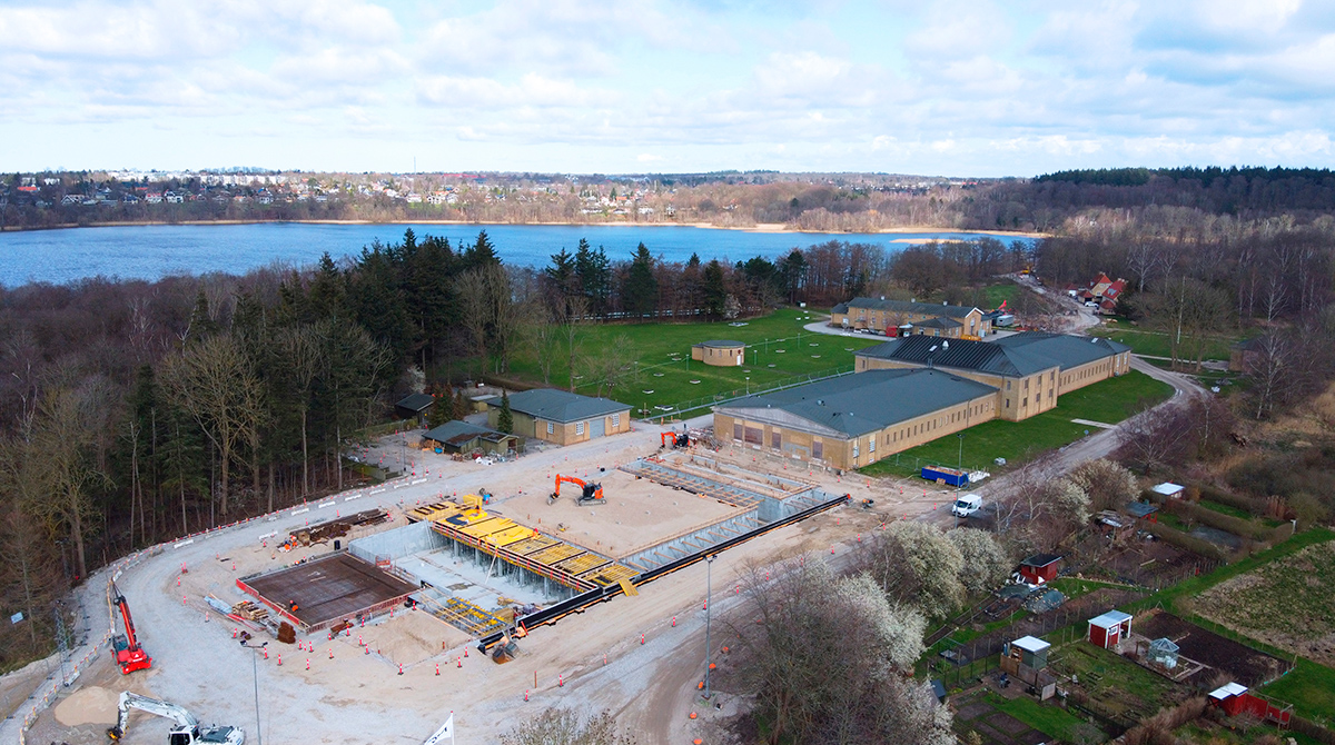 Luftfoto drone Værket ved Søndersø HOFOR
