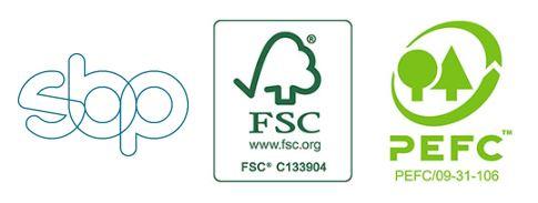 Logoer af certificeringer for biomasse