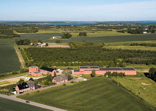 Luftfoto af Marbjerg vandværk.