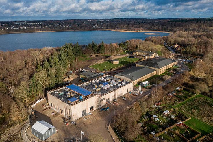 Søndersø vandværk set fra luften
